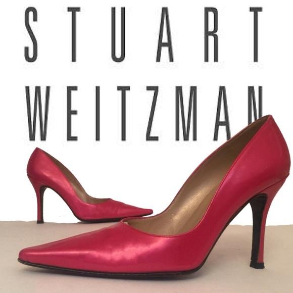 Stuart Weitzman Shoes - Stuart Weitzman Pink Pointed Toe Pumps Heels